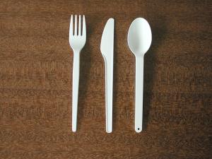 Besteck aus Bioplastik. © Fraunhofer UMSICHT